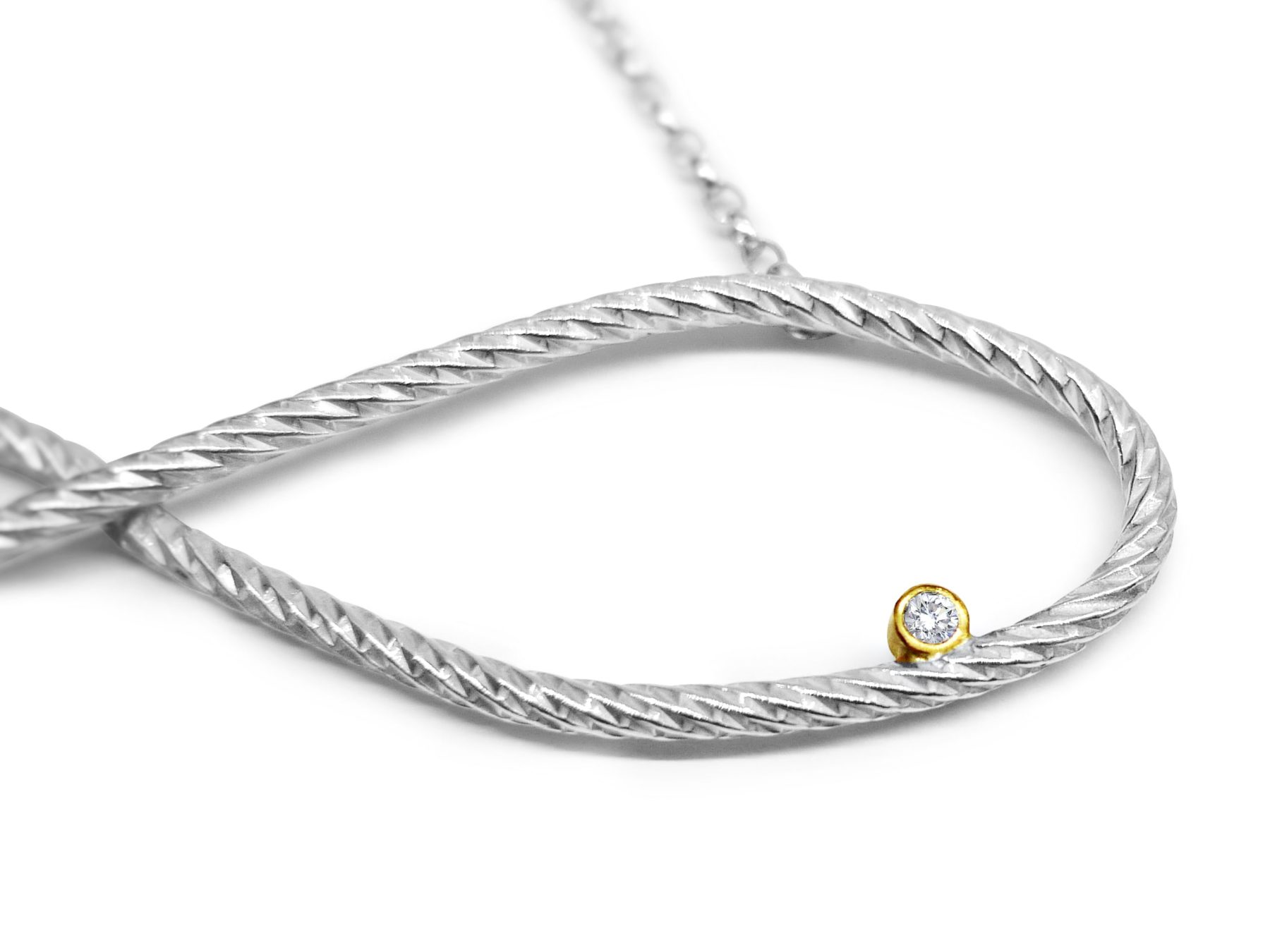 zirconia with cubic gold on ladies jewellery chain silver rose and infinity shop pendant